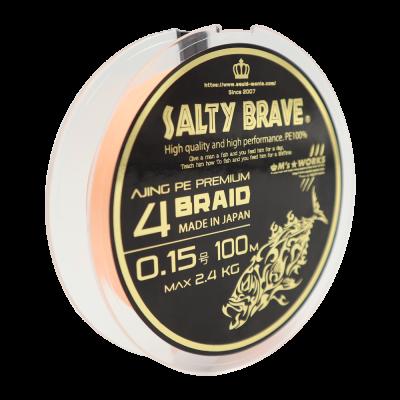 """Squid Mania """"Salty Brave Ajing PE Premium 4Braid"""" 0.15 PE"""