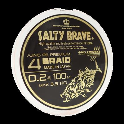 """Squid Mania """"Salty Brave Ajing PE Premium 4Braid"""" 0.2 PE"""
